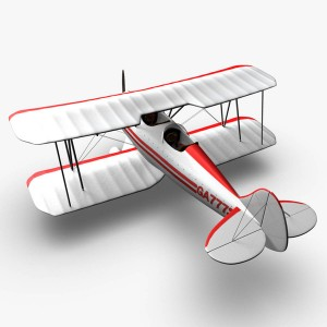 Waco YMF5 Biplane White
